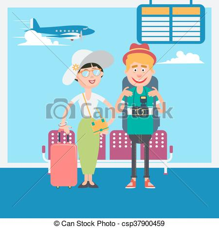 Departure clipart cartoon To Departure csp37900459 Couple to