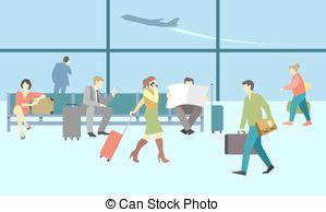 Departure clipart travelers Art People concept background Terminal
