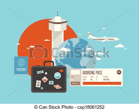 Travel clipart destination Destination Traveling Vector on of