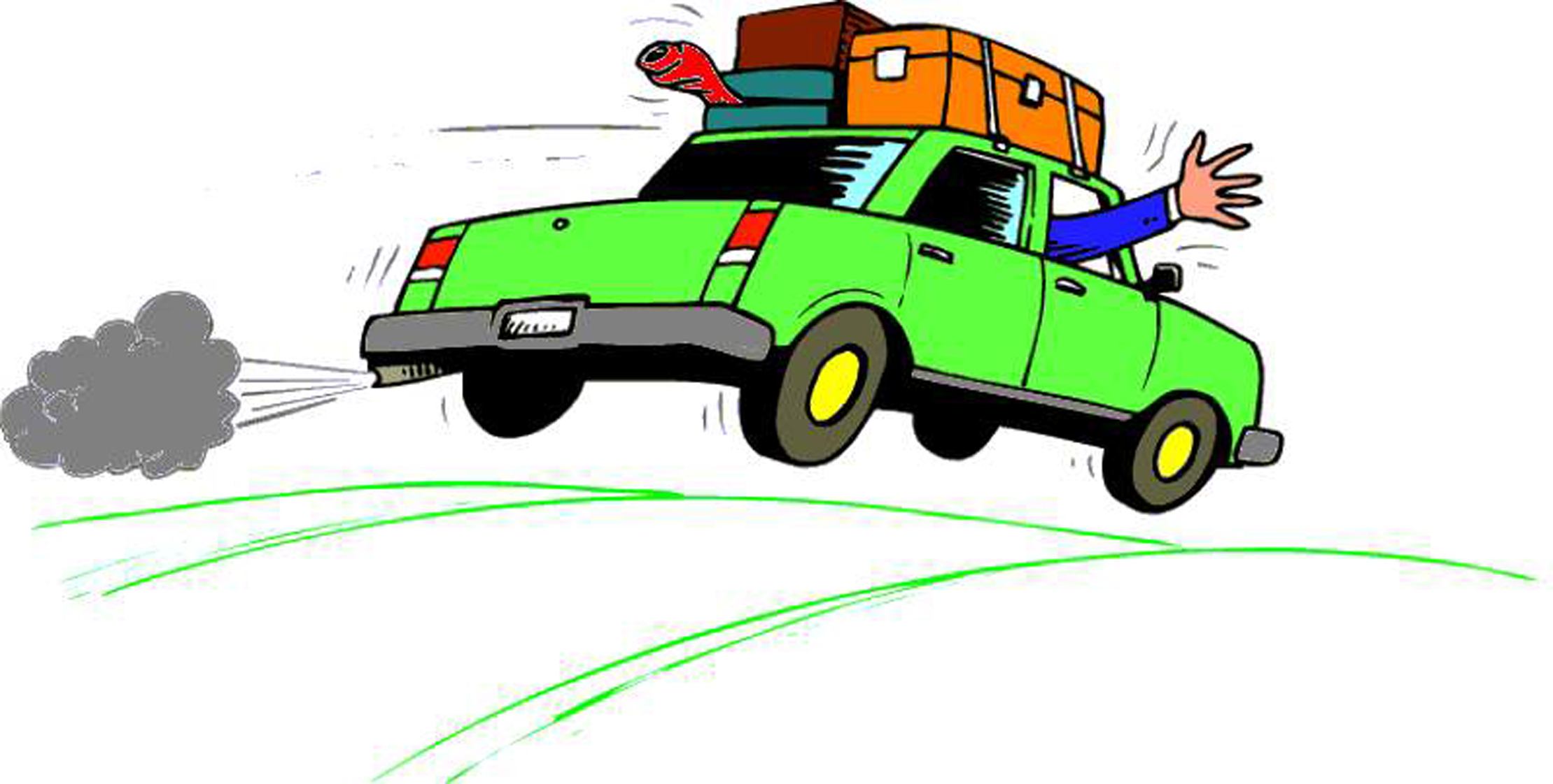 Vacation clipart car ride Travel Clipart 2219x1122  Road