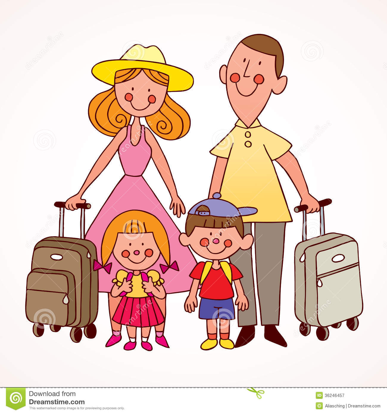 Vacation clipart family travel Travel Download Family Clipart Travel