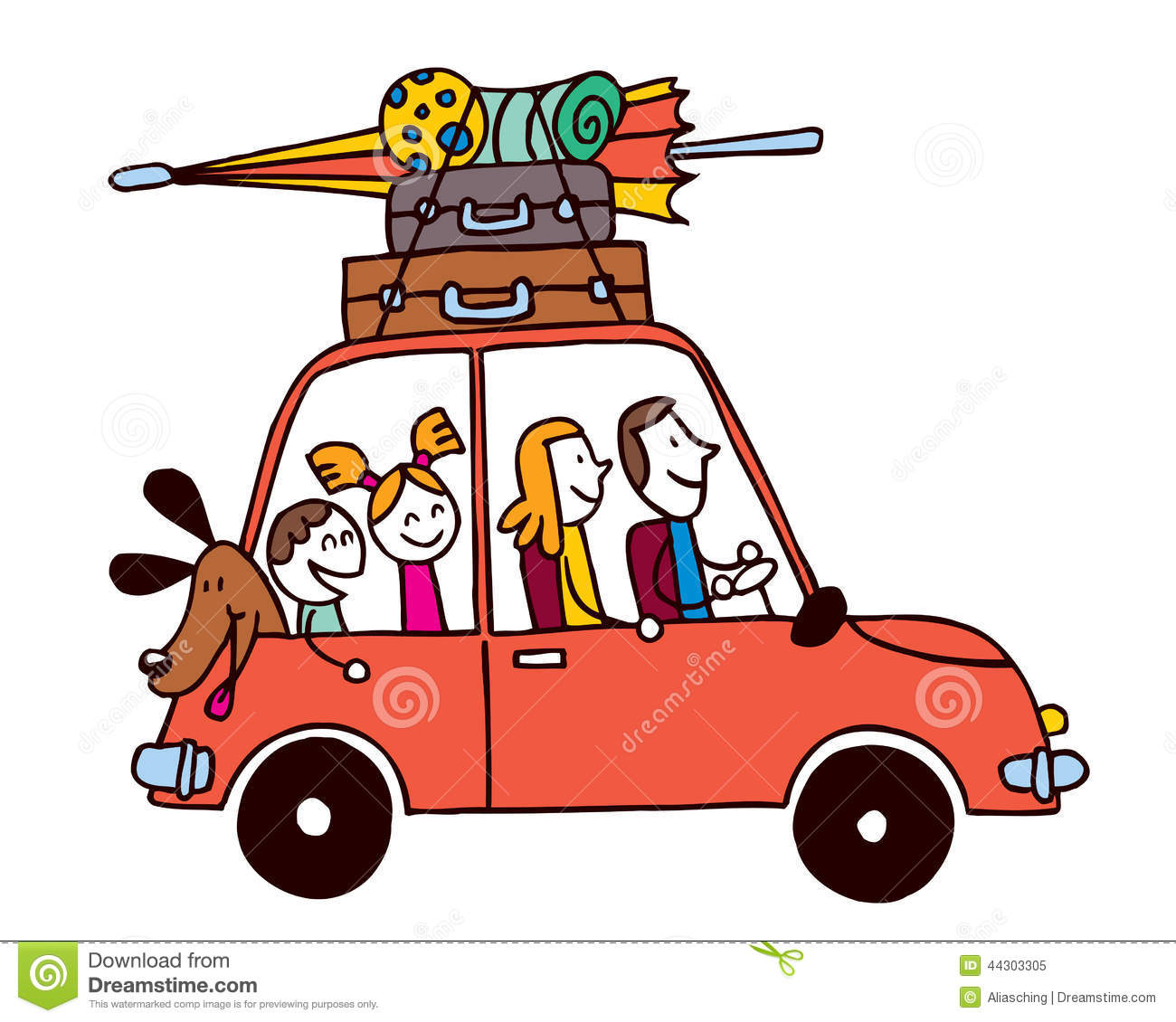 Travel clipart family time Royalty Free Clip Vacation time