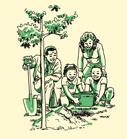 Travel clipart family tradition Of planting illustration the Manliness