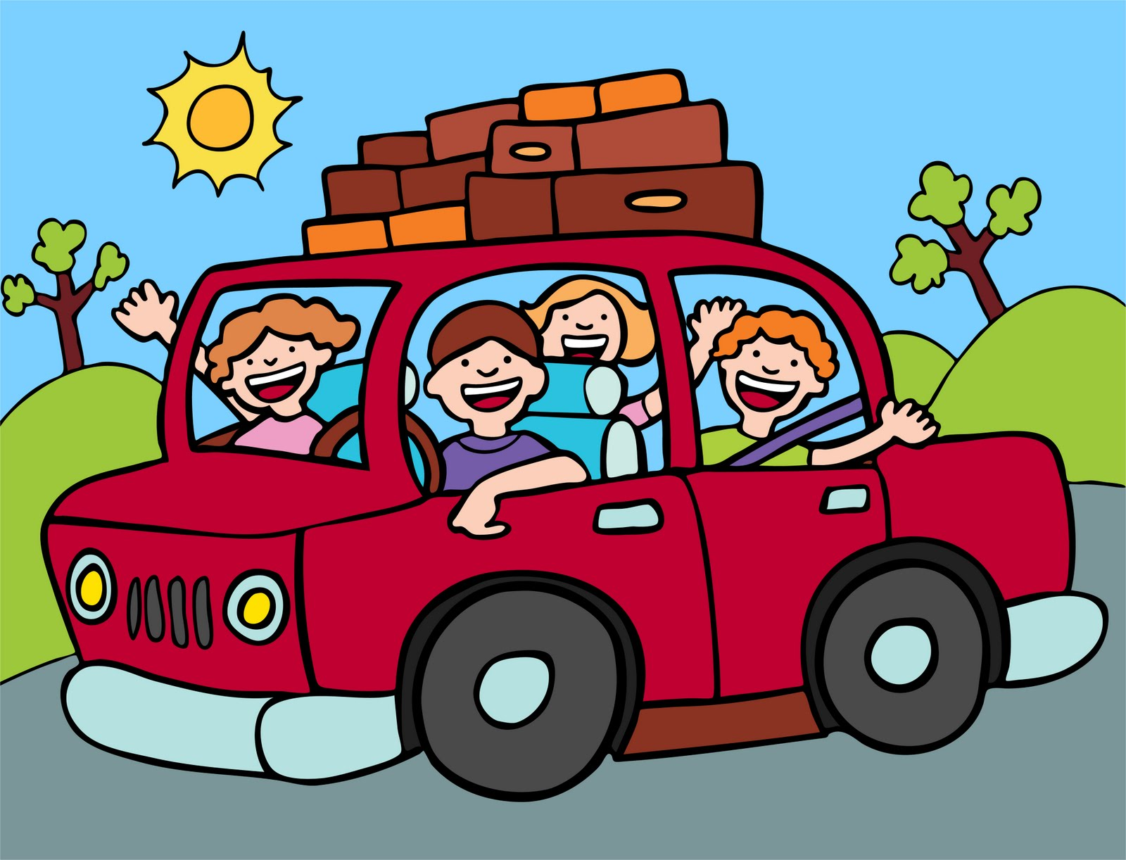 Vacation clipart road trip Travel clipart Traveling clip car