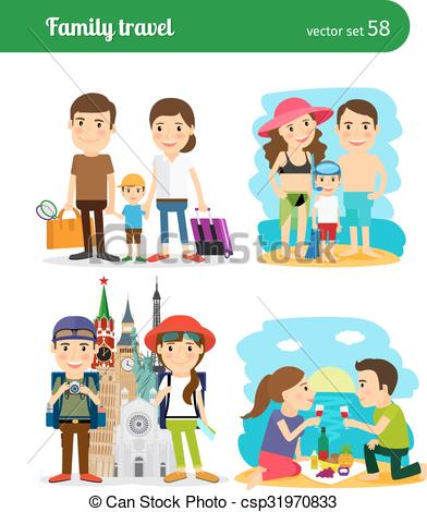 Travel clipart family travel Csp31970833  travel people Family