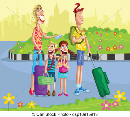Travel clipart family travel For with Clip going Happy