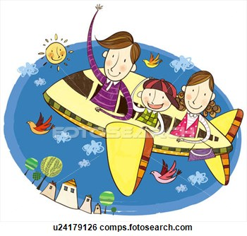 Airplane clipart family Plane Travelling collection (80+) travel