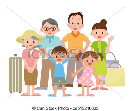 Travel clipart family travel Stock travel csp13240803 Family csp13240803