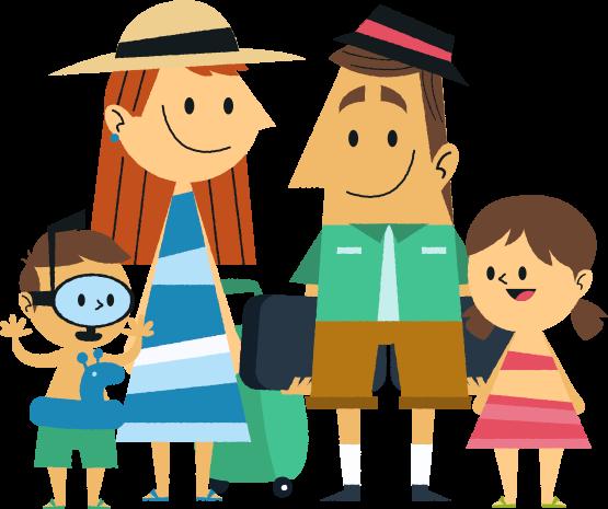 Vacation clipart family travel Vacation Family on – Travel
