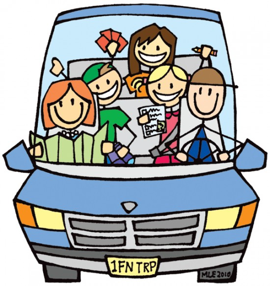 Road clipart family road trip #2