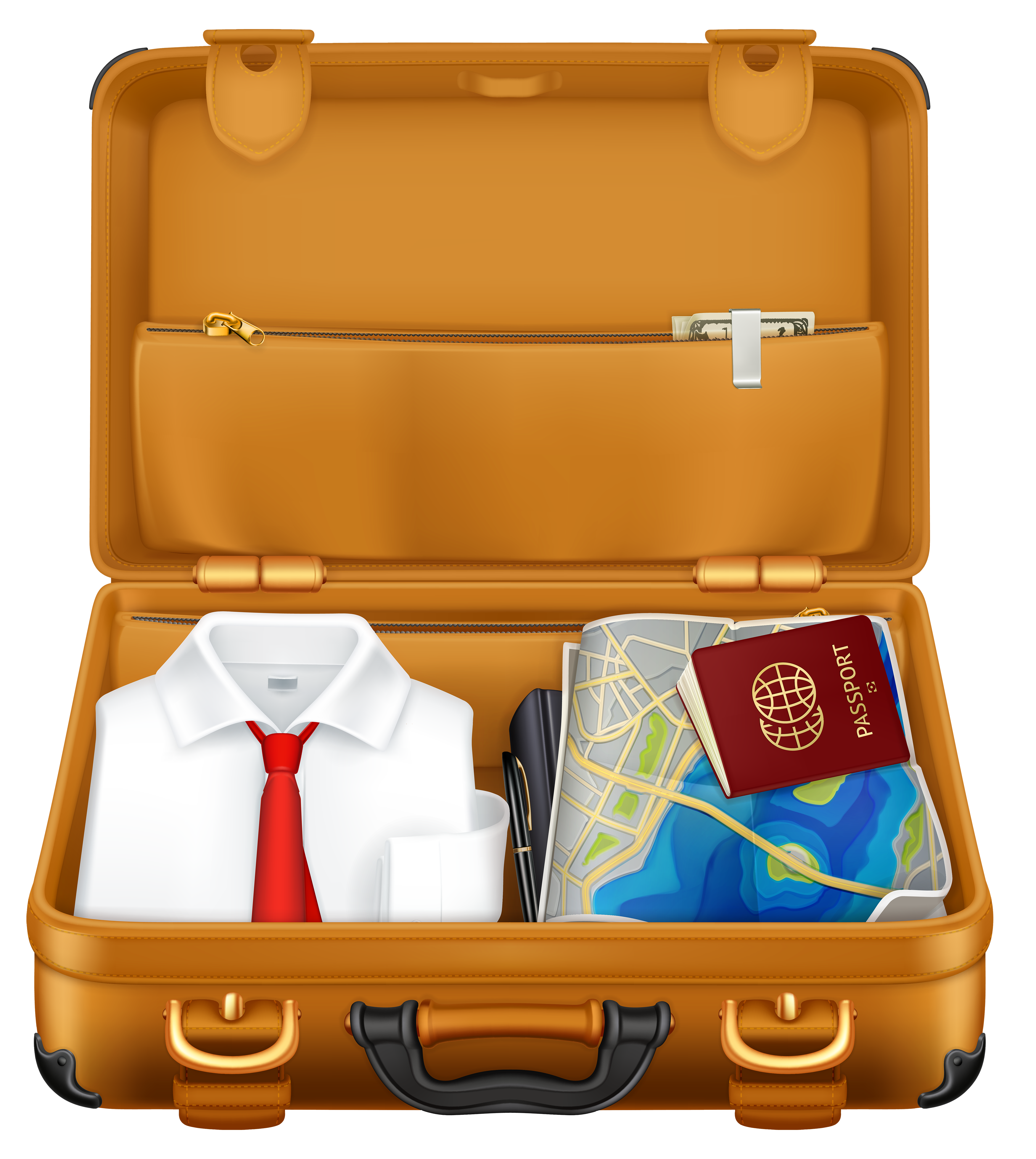 Travel clipart holiday suitcase On Brown Suitcases Art Clipart