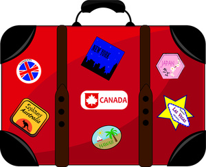 Travel clipart holiday suitcase Travel Luggage Luggage cliparts Clipart