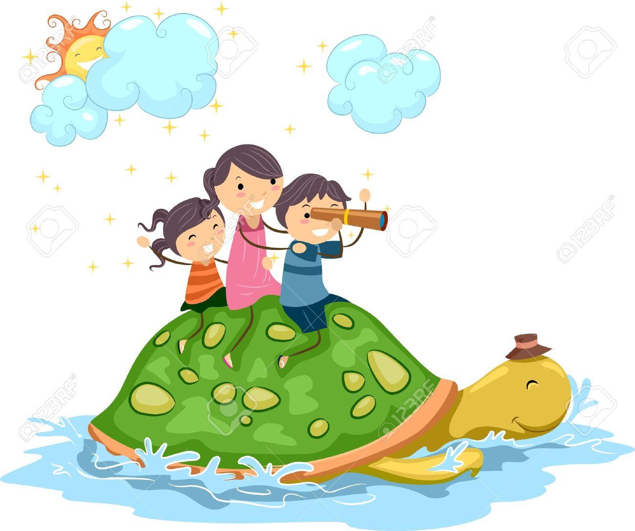 Adventure clipart kid adventure Stock A  Around Turtle
