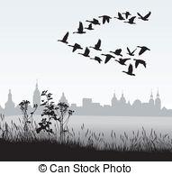 Migration clipart Migrating Vector clipart clip Birds