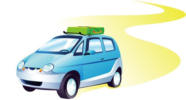 Blue Car clipart car travel Trip Travel on Download Clipart