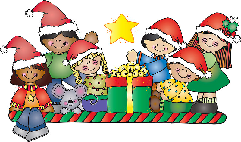 Merry Christmas clipart child Kids Free Coloring Free Holidays