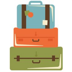 Vacation clipart suitcase Stack Suitcase Clipart Stacked cliparts
