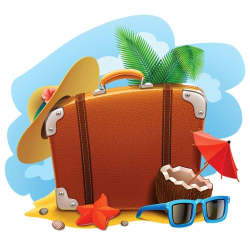 Vacation clipart suitcase Images about 2 best voyage