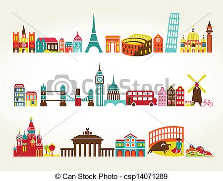 Travel clipart tourism Locations tourism of Vector Travel