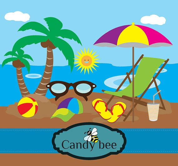 Vacation clipart travel Art Beach Beach Commercial on