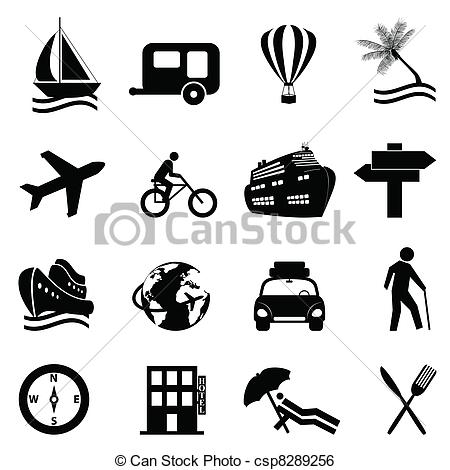 Leisure clipart black and white #1