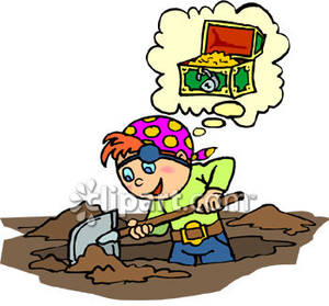 Treasure clipart buried treasure Treasure For Clipart Digging