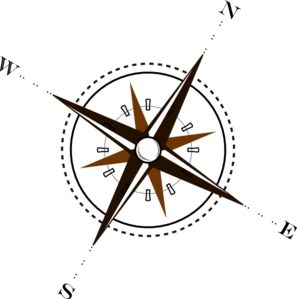 Compass clipart treasure map At com Clip  Brown
