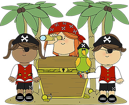 Treasure clipart cute Graphics: Pirate and Day: Art