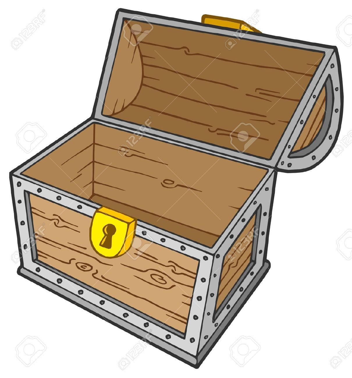 Treasure clipart empty Empty  Chest Clip Treasure