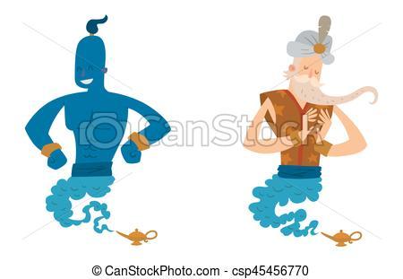 Treasure clipart legend Cartoon Illustration genie vector legend