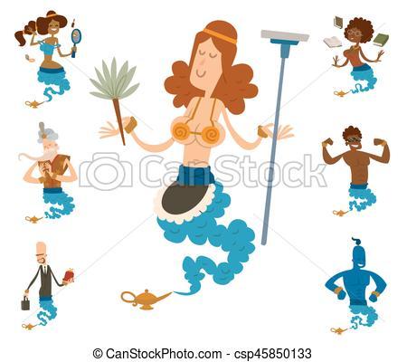 Treasure clipart legend Genie of character illustration legend