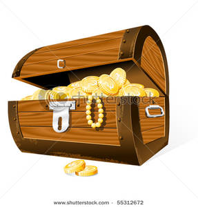 Treasure clipart pearl In Coins Art Chest In