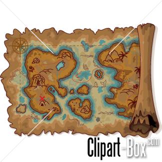 Treasure clipart pirate treasure Treasure TREASURE MAP Pinterest MAP