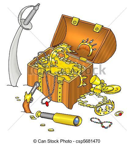 Treasure clipart pirate treasure Treasure Stock Illustration Pirate's and