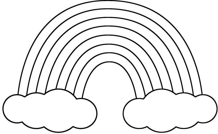 Drawn rainbow cloud clip art Free rainbows rainbows clipart and