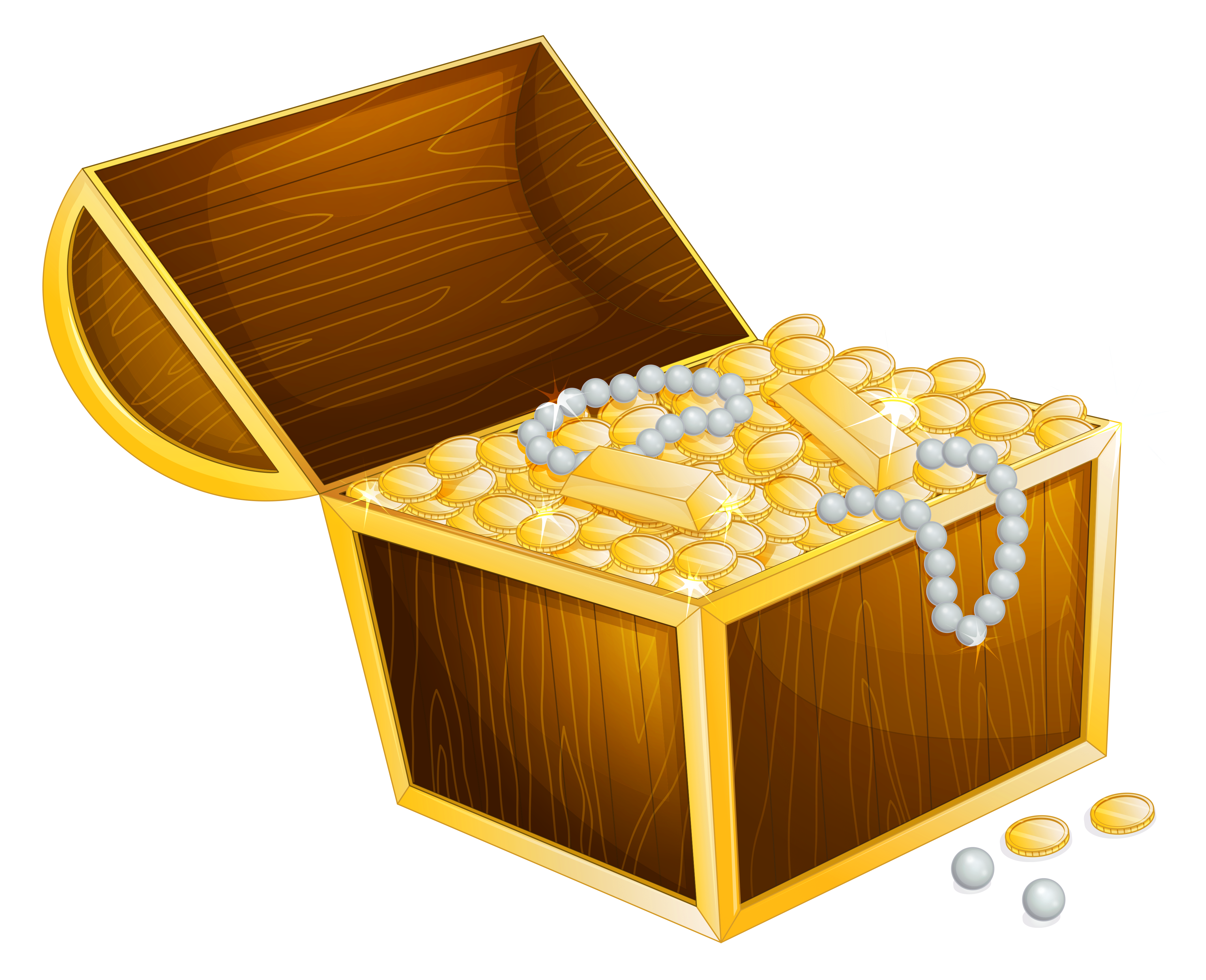 Box clipart transparent background  Treasure Gallery full Chest