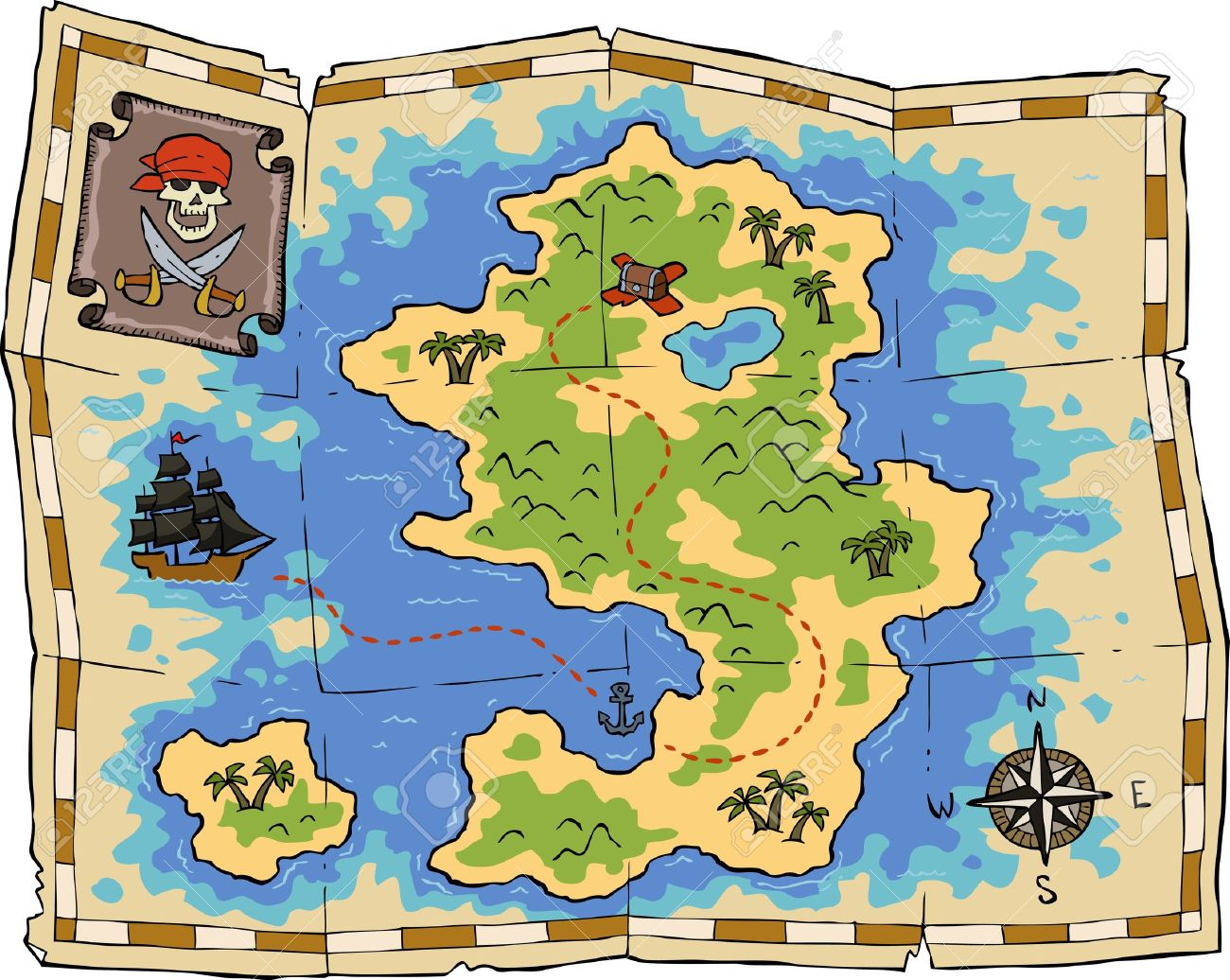 Islet clipart treasure map Treasure map Treasure 2 clipartfest