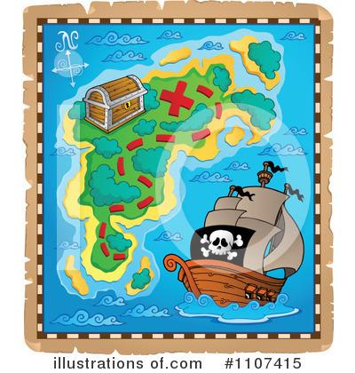 Treasure clipart treasure map Clipart #1107415 Illustration visekart Clipart