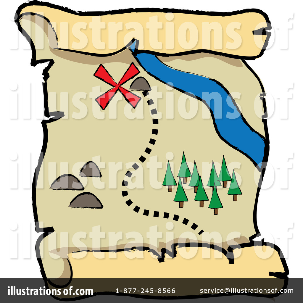 Treasure clipart treasure map Clipart by Clipart Illustration by