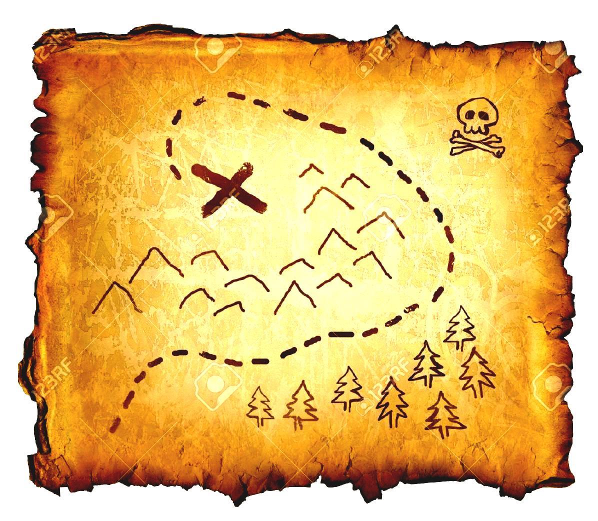 Treasure clipart treasure map Treasure map Map collection island