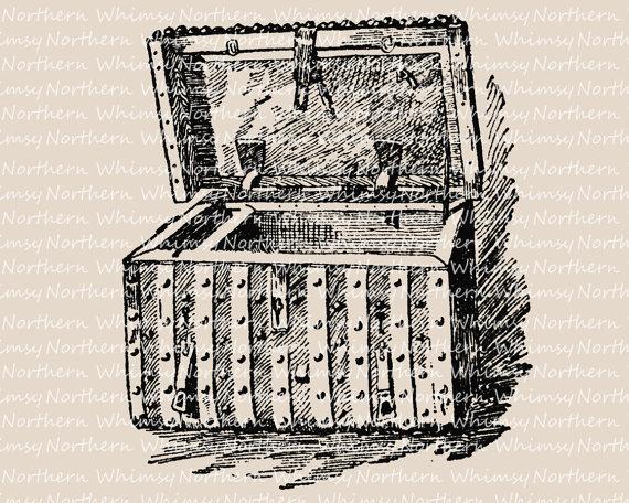 Treasure clipart trunk Art Steamer Steamer Vintage Trunk