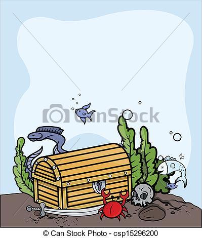 Treasure clipart trunk  csp15296200 Sea The Clipart