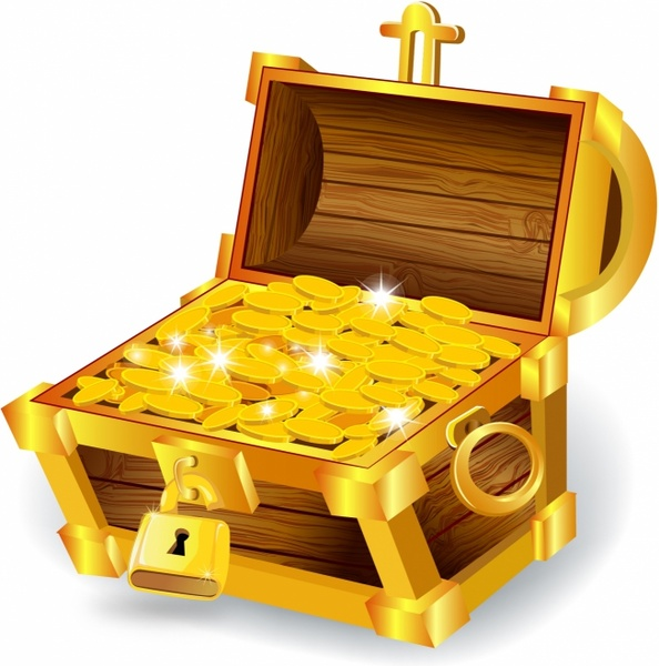 Treasure clipart vector Chest free (211 download Free