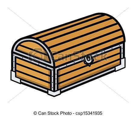 Chest clipart trunk Wooden Ancient Vectors Art csp15341935