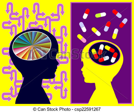 Treatment clipart medication ADHD Illustration of Attention Treatment