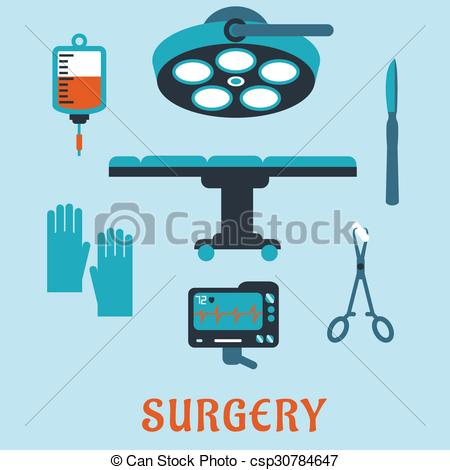 Treatment clipart operating room Surgery Surgery flat  of