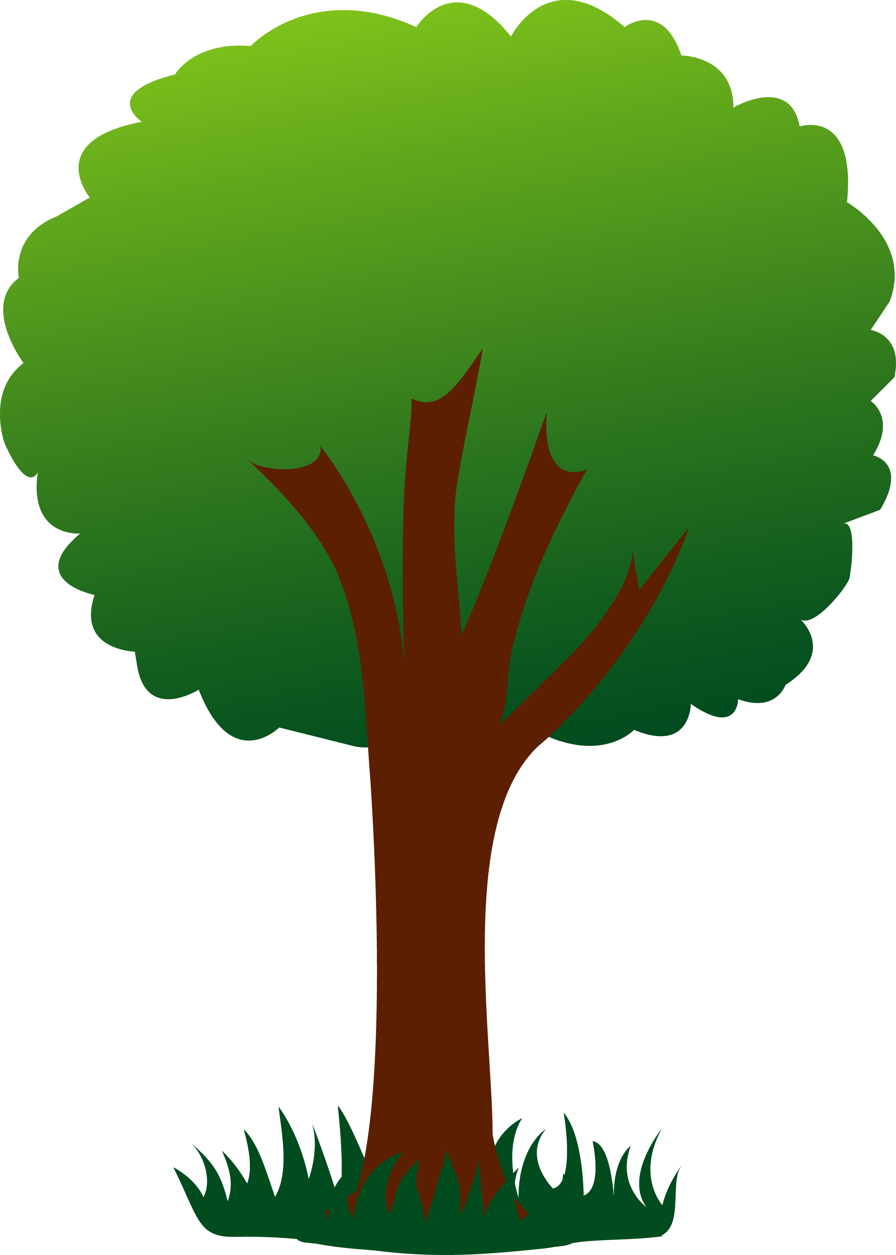 See clipart tree grass #3