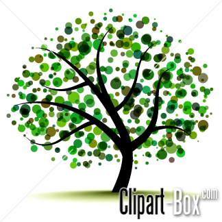 Tree clipart abstract #7
