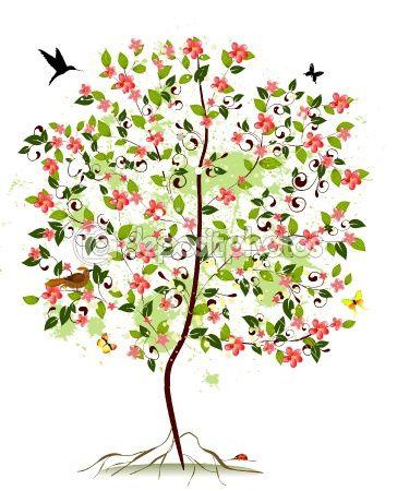 Tree clipart apple blossom #8