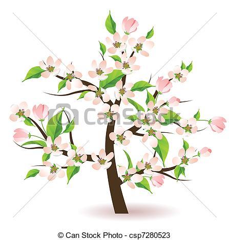 Tree clipart apple blossom #11